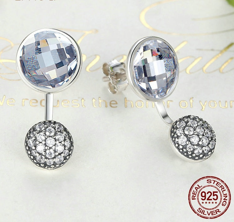 2-in-1 Earrings - Wear 2 Designs with this Gorgeous Single Earrings - Crafted from Silver and Crystals