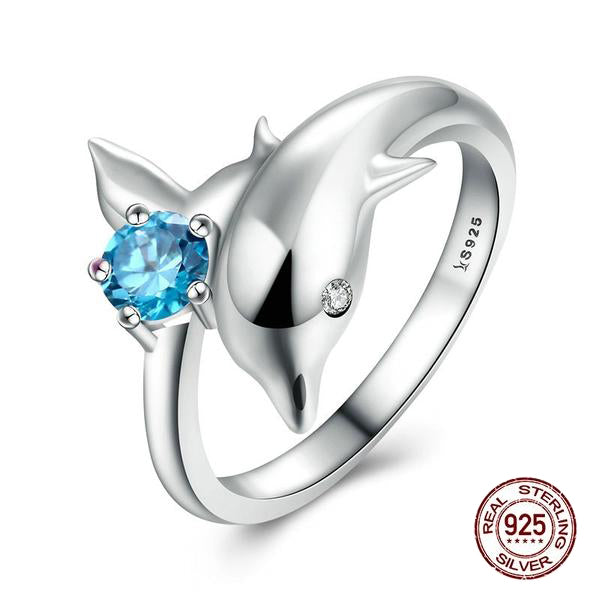 Let the Lovely Dolphin Ride your Finger - A Lovely Finger Ring Crafted from Silver
