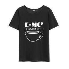 Girls' Funny Einstein's E=mc^2 Equation Cotton T-shirt in 6 Colors