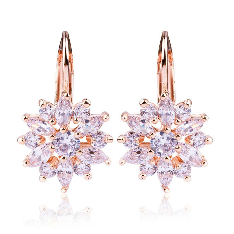 plated earring with of zircon crystals color multi variants hot products gold sell aaa earrings stud colored