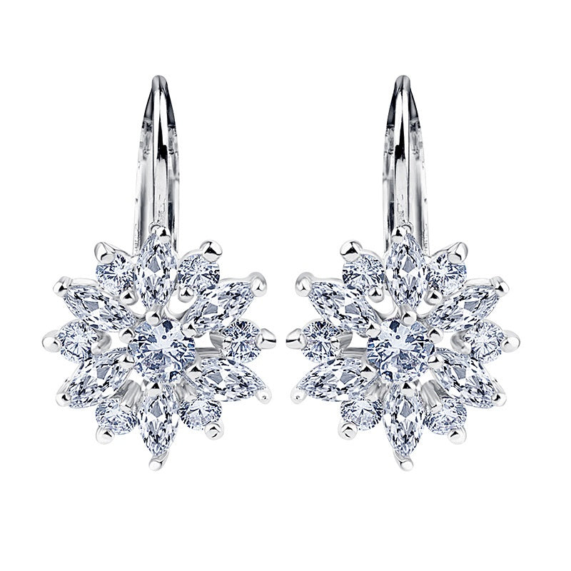 fine of silver cz stud colored crystal women for diy authentic patterns item sterling earrings frost multi