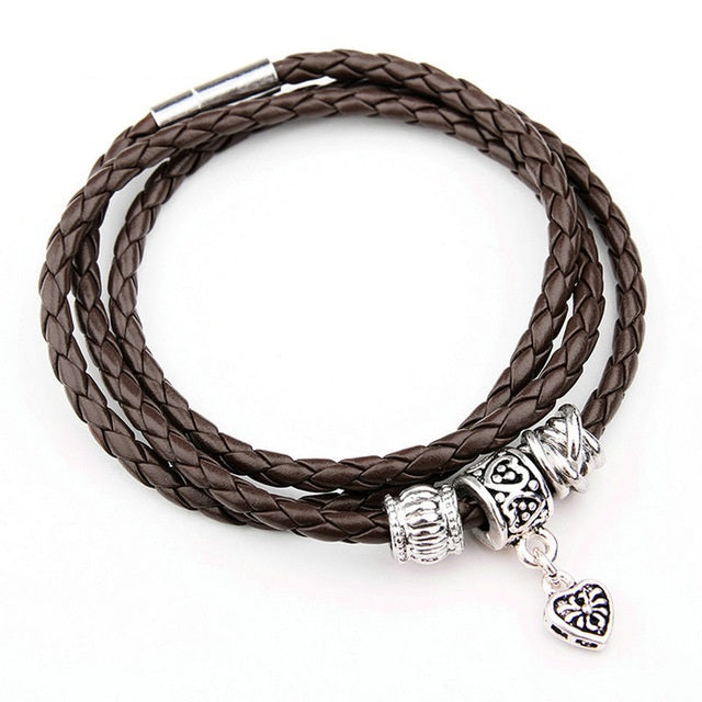 Gorgeous Casual Leather Bracelet in Brown Color
