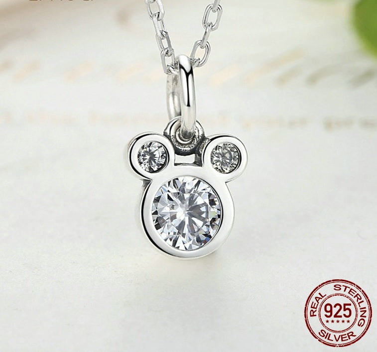 Dazzling Mickey Mouse Pendant with Necklaces for Women