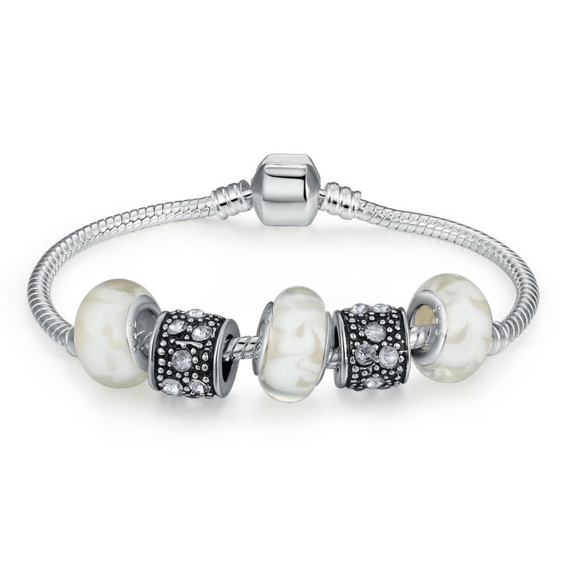 Simple yet Elegant - Women's Charm Bracelet with Cute Beads