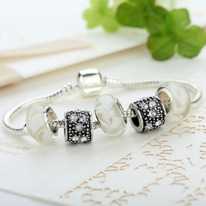 Simple yet Elegant - Women's Bracelet with 4 Cute Beads