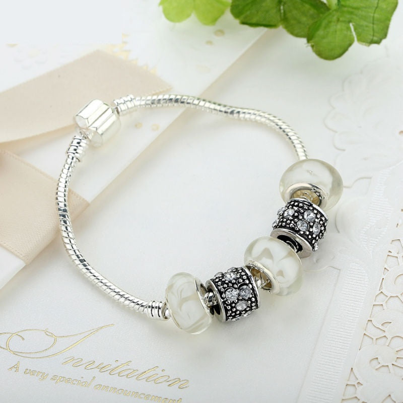 Women's Elegant Charm Bracelet with 4 Cute Beads