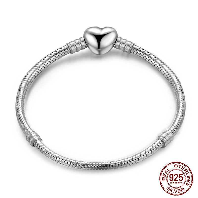 Wear the Heart on Your Wrist - Cute Bracelet Crafted from Silver