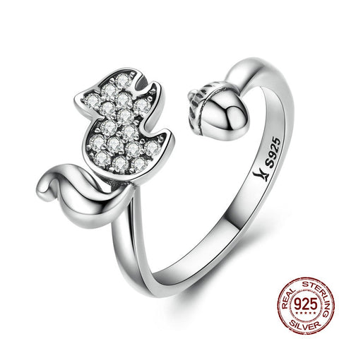 Lovely Hearts - Cute pair of Hearts Ring Crafted with Silver