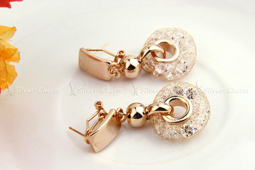 Feel Special - Women's Luxurious Rose Gold Plated Drop Earrings