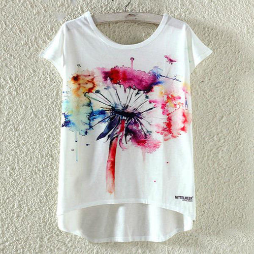 22 Abstract Designs of Cute Summer Harajuku Style T-Shirt for Women