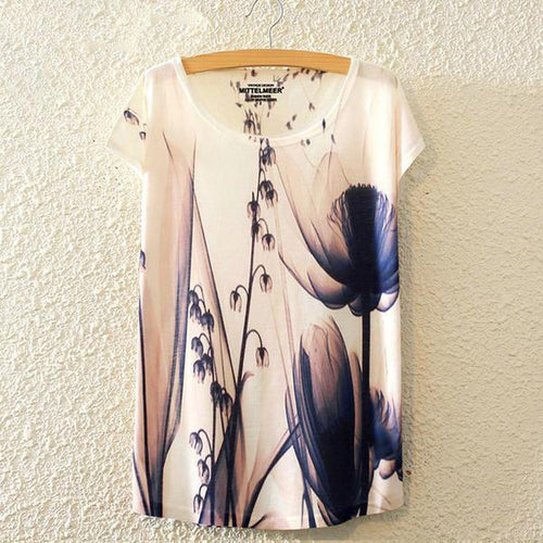 21 Designs of Brand New Fashion Harajuku Style Colorful Printed T-Shirts