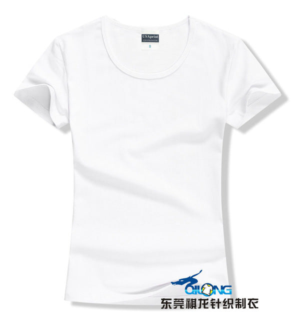 Women's Plain T-Shirts in 20 Bright and Cute Colors and 5 Sizes