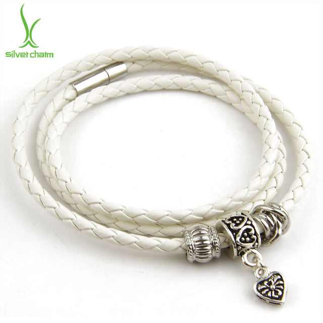 Gorgeous Casual Leather Bracelet in White Color