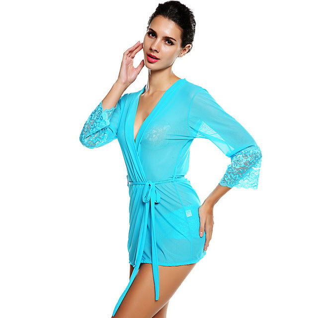 Women's Sexy Sleepwear with Underwear With Belt Size M L XL XXL and 4 Colors