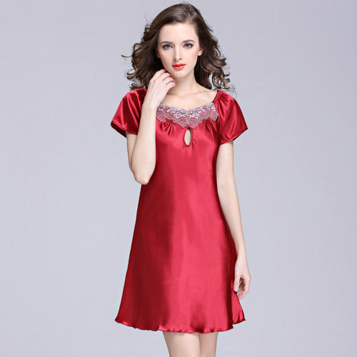 Women's Silky Knee-length Beautiful Nightgown (Various Colors and Sizes)