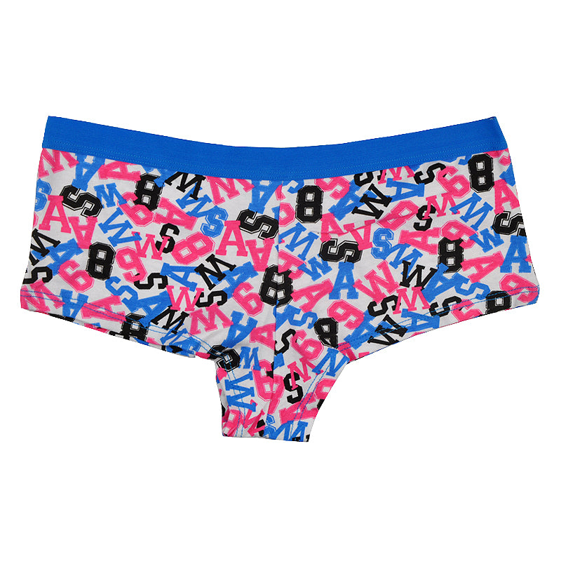 A Pack of 12 Numbers of Women's Boyshorts (Boxers) Panties With Various Colorful Designs