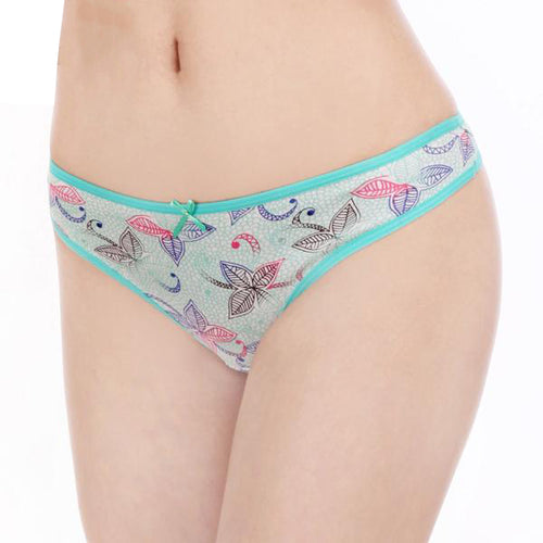 Pack of 6 Numbers of Women's Sexy G-String (Thong) Panties With Cute Floral Designs