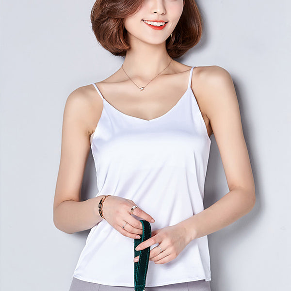 New Summer / Autumn Style Women's Sexy Imitation Silk Blouses in 7 Cool Colors and 5 Sizes