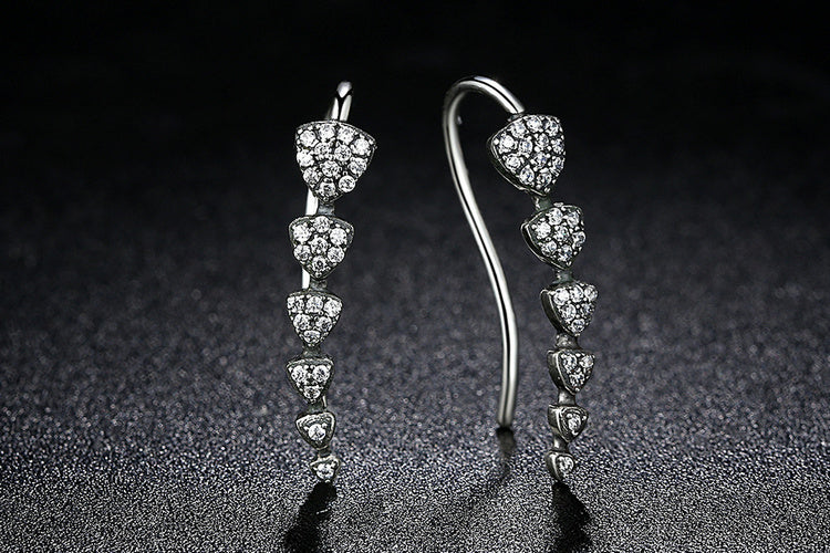 Break the Trend - Designer Earrings crafted from Silver and Crystals