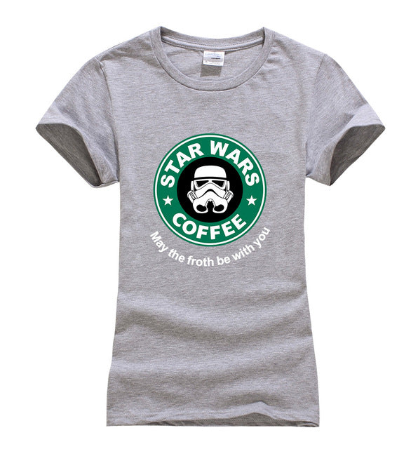 Cool Star Wars Coffee T-Shirt for Women in 7 Colors and 4 Sizes