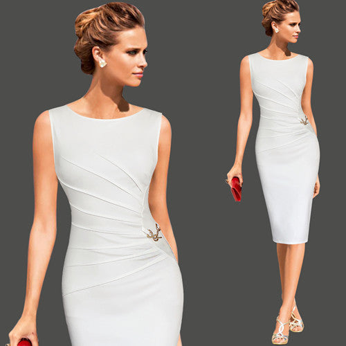 Womens Elegant Pinup Wear Fitted Pencil Dress
