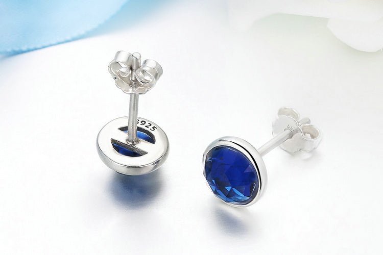 Richness of Blue Topaz - Simple but Cute Earrings Crafted from Silver