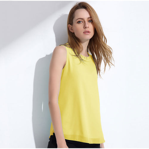 Women's Cute Chiffon Sleeveless Tops in 13 Colors
