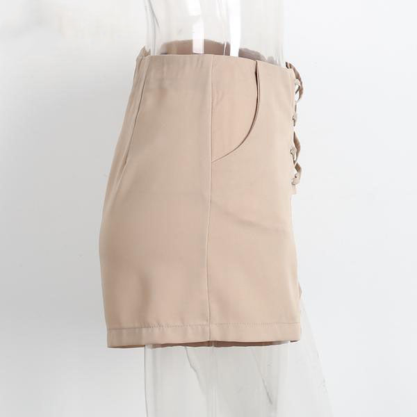 Women's Laced-up High Waist Stylish Sexy Shorts in 2 Colors