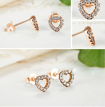 The Heart like Diamonds - Gorgeous Earrings Crafted from Gold Plated Silver and Crystals