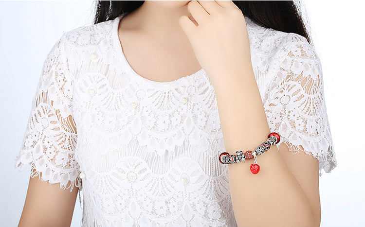 Feel the Energy of Red - Gorgeous Bracelets with Red Beads and Owl, Bear & Bear Charms