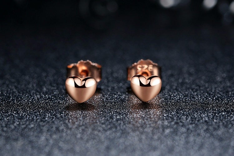 Romance in the Air  - Stud Earrings Crafted from Silver and Gold Plated Silver