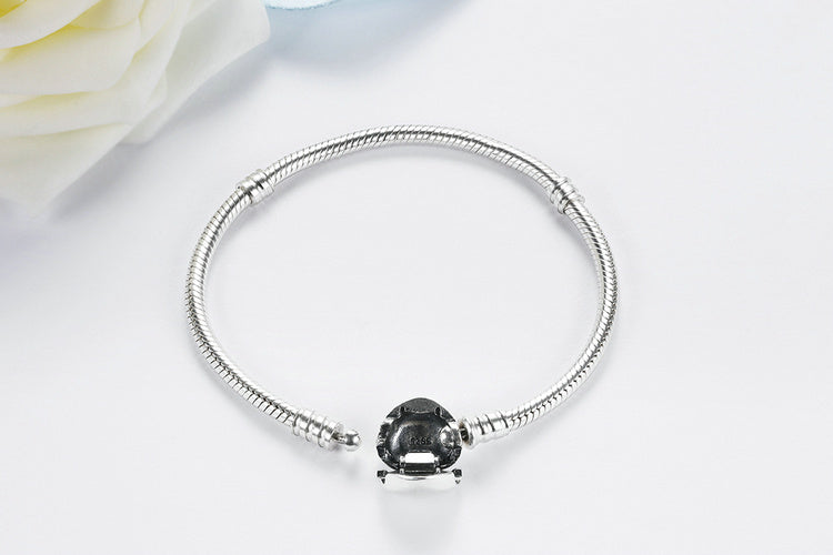 Wear the Heart on Your Wrist - Cute Bracelet Crafted from Silver in 4 Sizes