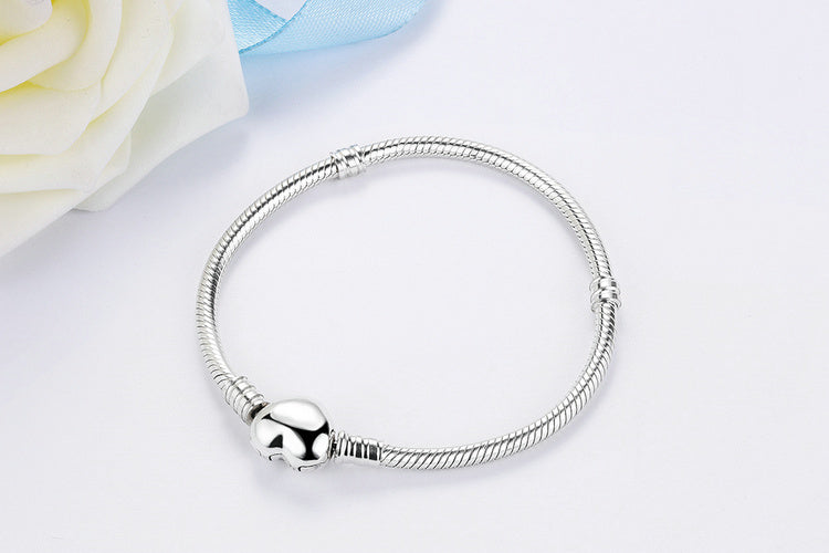 Cute Bracelet with Heart Crafted from Silver