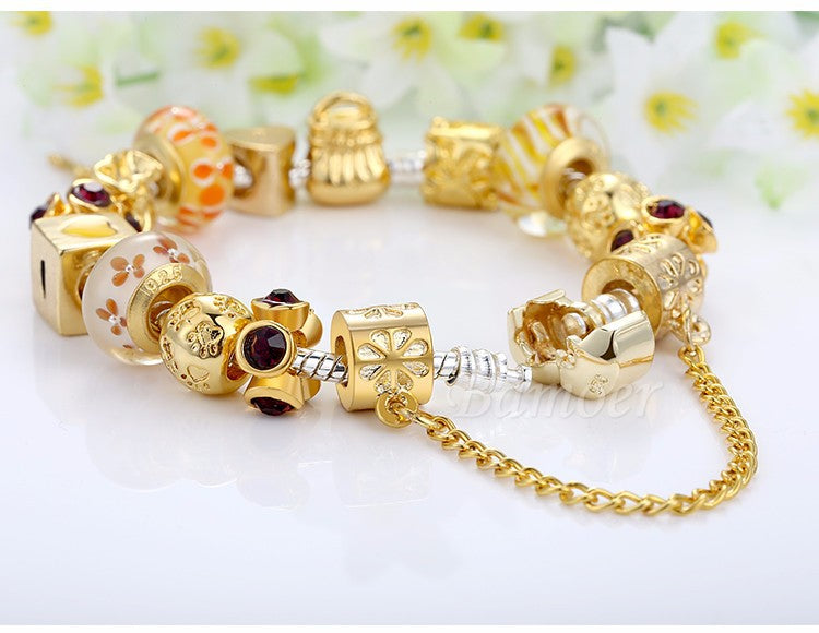Charm Bracelet With Exquisite Beads