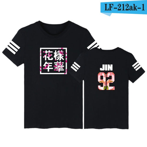 Bangtan Boys's T-shirt for Women - K-Pop Korean O-Neck Casual T Shirts - 20 Designs and 9 Sizes