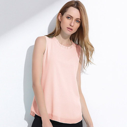 release date top-rated genuine save up to 60% Women's Cute Chiffon Sleeveless Tops in 13 Colors