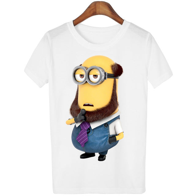 11 Designs of Minions Print Short Sleeve T-shirt for Women
