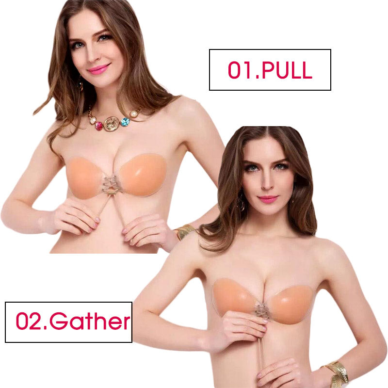 Sexy Silicone Adhesive Backless Push-Up Bra