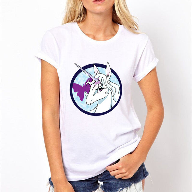 6 Designs of Cute Unicorn T-shirt For Women in 5 Sizes