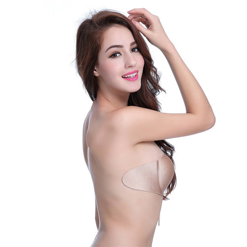 Silicone Adhesive Stick-on Sexy Push-up Breathable Backless Bras in 2 Colors