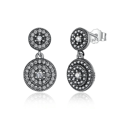 Wear the Elegance - Elegant Earrings Crafted from Silver and Crystals