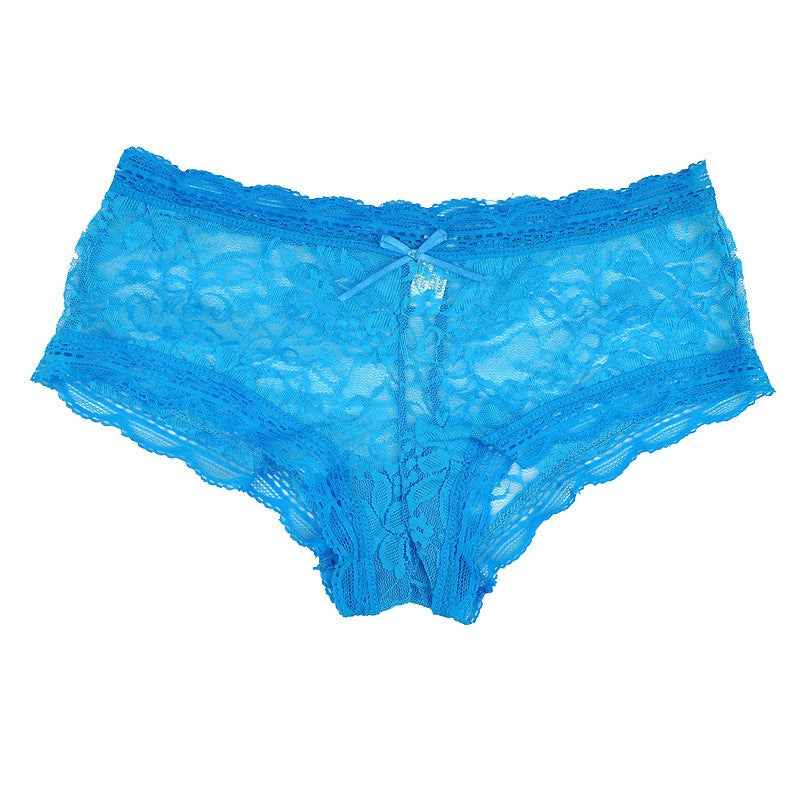 A Lot of 6 Pieces of Women's Sexy Full Lace See Through Panties