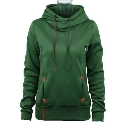 Women's Hoodie / Sweatshirts with Self-tie Pockets - Various Sizes in 6 Colors