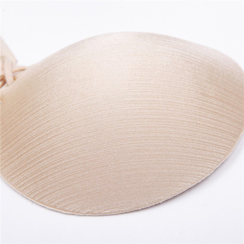 Women's Silicone Self Adhesive Stick-On Push-Up Strapless & Backless Bras for Shoulder Less Dresses in including Wedding Dress