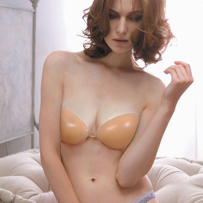 7471245137eb6 Sexy Push-Up Silicone Adhesive Breathable Strapless Bra in 4 Cup Sizes
