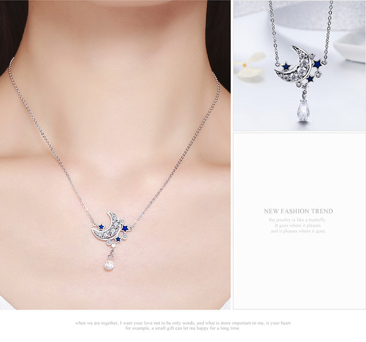 Romantic Starry Night - Cute & Gorgeous Pendant Necklaces for Women with Diamonds like Crystals