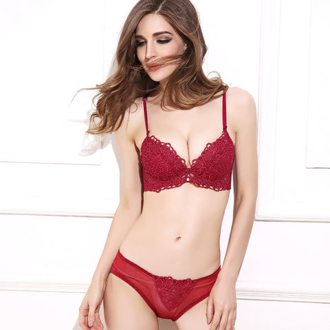 Ultra Thin Laced Bra Pantie Sets in 19 Sizes and 3 Colors