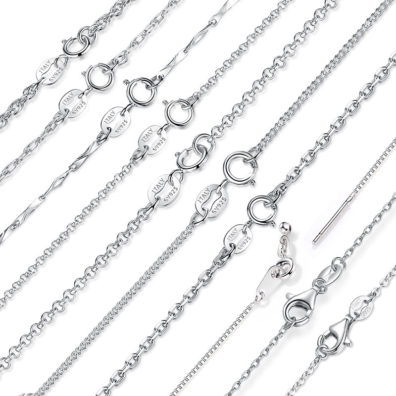 10 Designs of Adjustable Chains Crafted from Authentic Silver