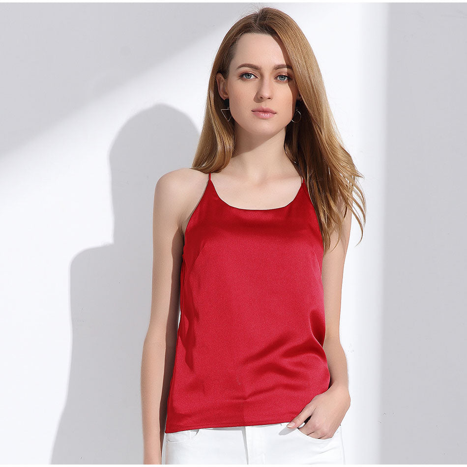 Women's Sexy and Cute Silk Halter Top in 8 Cute Colors
