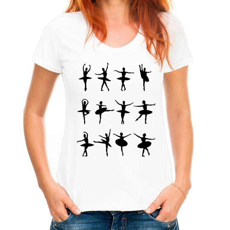 New women's Dance pattern Printed T-Shirts - Cool Harajuku Design